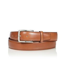 Contrast Edge Leather Belt 42 Belts