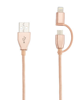 2-in-1 Cable: Lightning & Micro USB Electronics